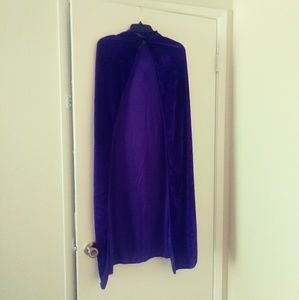 Jackets & Blazers - Purple Velvet Cape with Hood